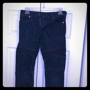 Youth Boys Dark Blue Denim Skinny Jeans